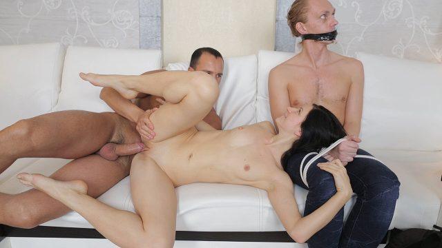 Lina arranged a sweet sex revenge for her cuckold