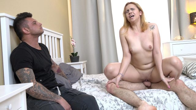 Redhead bitch gets fucked for money
